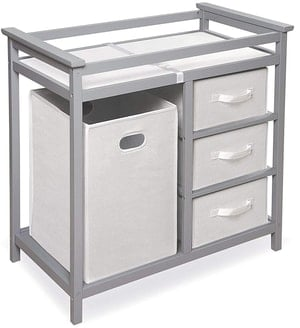 baby changing table drawers